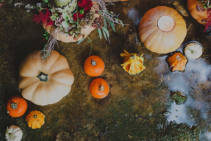 Spanish Bohemian Wedding Inspiration with pumpkins - Boho In Autumn