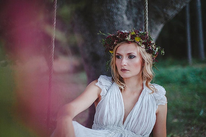 Spanish Bohemian Wedding Floral Crown Inspiration with horses - Boho In Autumn