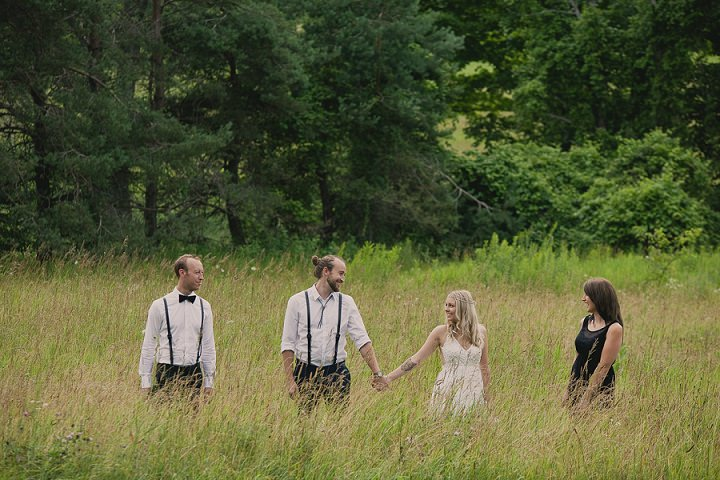 Bohemain Ontario bridal party Wedding By Sophia Lemon Photography