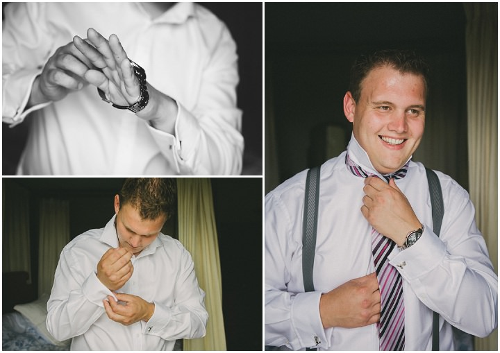 Devon Groom getting ready Wedding at Colehayes Park By John Barwood Photography