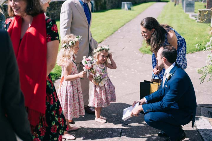 Wedding at The Haymeadow in Somerset mini bridesmaids by This and That Photography