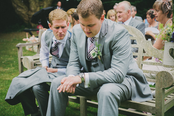 Devon groom Wedding at Colehayes Park By John Barwood Photography