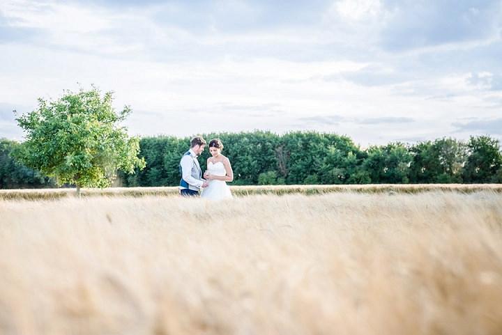 Wedding at Bassmead Manor corn field Barn Cambridge By Dewan Demmer Photography
