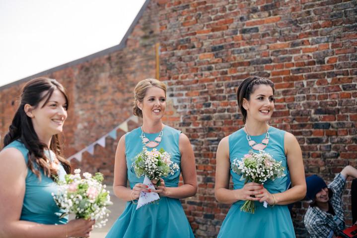 Yorkshire Barmbyfield bridesmaids Barns Wedding By Stott and Atkinson
