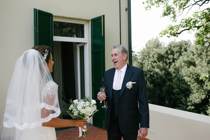 Tuscany father sees daughter Wedding By Helen Abraham Photography