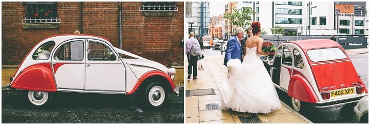 Modern Manchester car Town Hall Wedding by Emma Boileau
