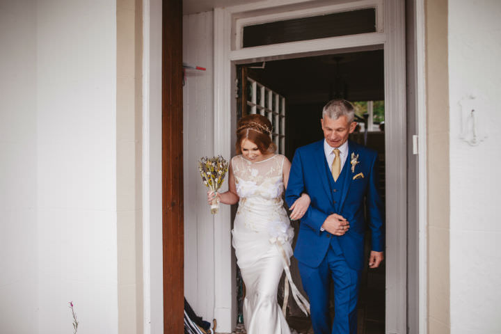 Scottish Claire Pettibone Dress Wedding with a Claire Pettibone dress By Christopher Currie