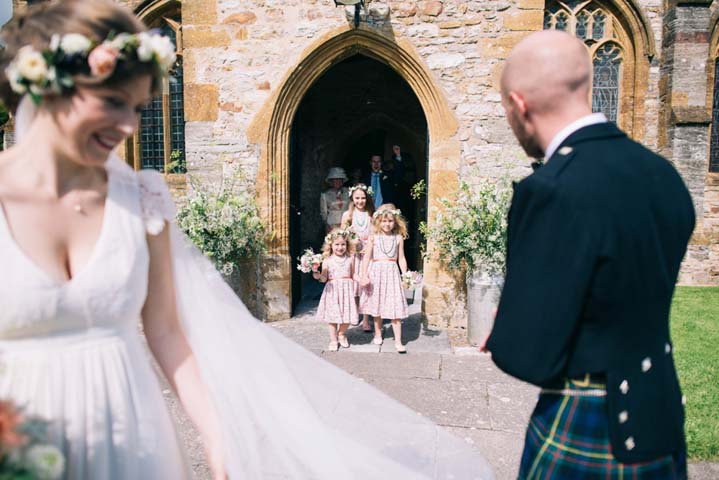 Just married at Wedding at The Haymeadow in Somerset by This and That Photography