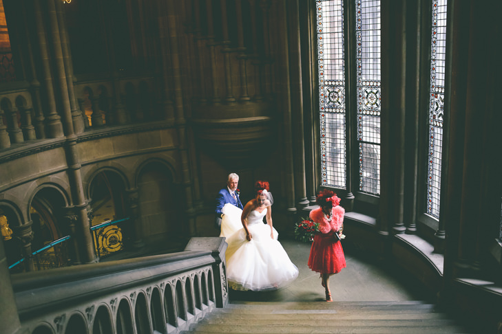 Modern Manchester bride Town Hall Wedding by Emma Boileau