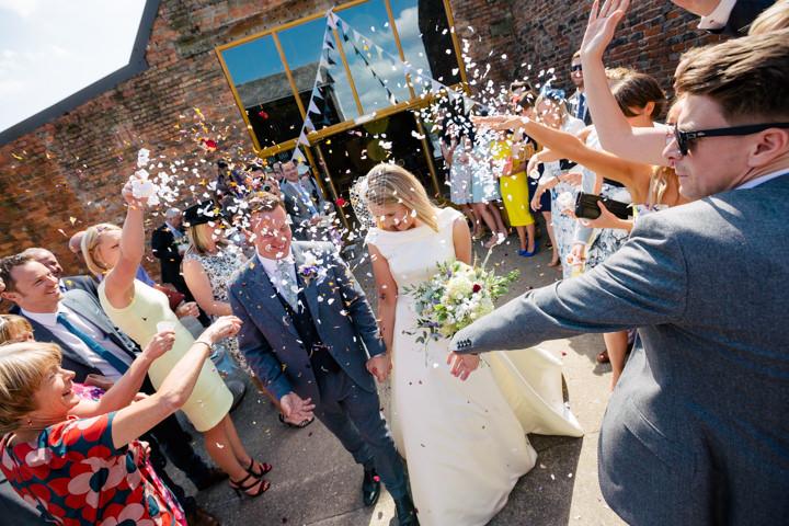 Yorkshire Barmbyfield confetti Barns Wedding By Stott and Atkinson