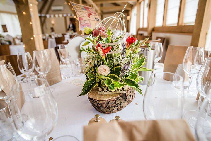 Wedding at Bassmead Manor table decorations Barn Cambridge By Dewan Demmer Photography