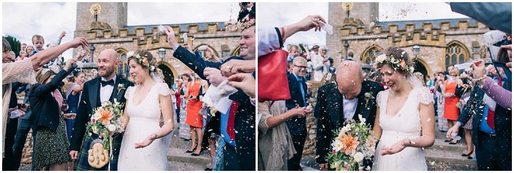 Wedding at The Haymeadow confetti in Somerset by This and That Photography