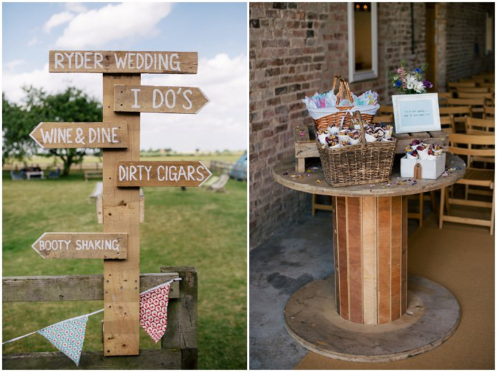 Yorkshire Barmbyfield signs Barns Wedding By Stott and Atkinson