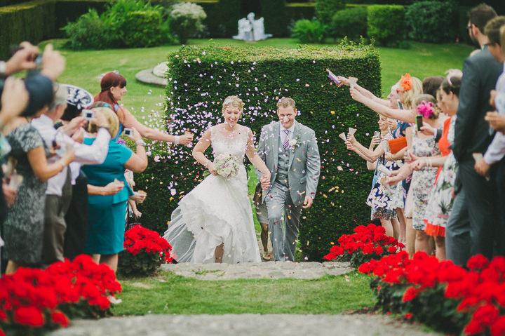 Devon confetti at a Wedding at Colehayes Park By John Barwood Photography