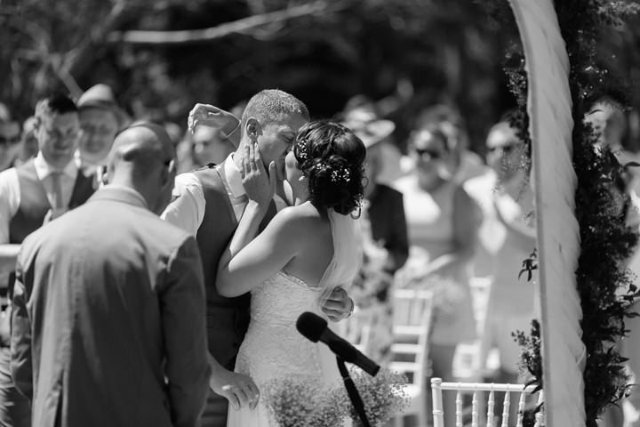 Portugal Wedding first kiss in the Algarve By Matt and Lena Photography