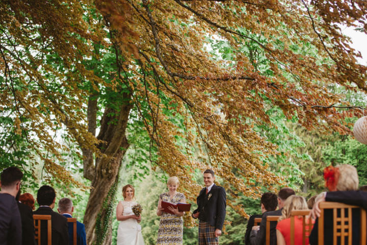 Scottish Outdoor Wedding with a Claire Pettibone dress By Christopher Currie