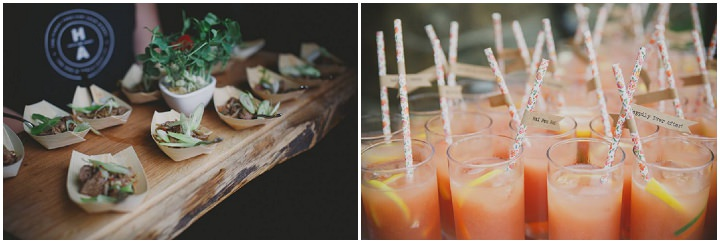 Emily and Jonny's Rustic Peach and Grey Barn food Wedding By Soul Images