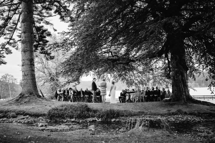 Scottish Outdoor ceremony Wedding with a Claire Pettibone dress By Christopher Currie