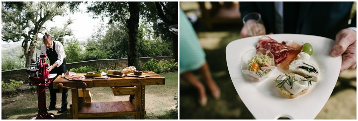 Tuscany Wedding food By Helen Abraham Photography