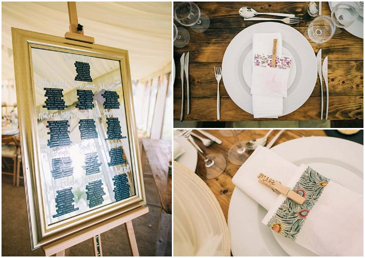 Wedding table plan at The Haymeadow in Somerset by This and That Photography