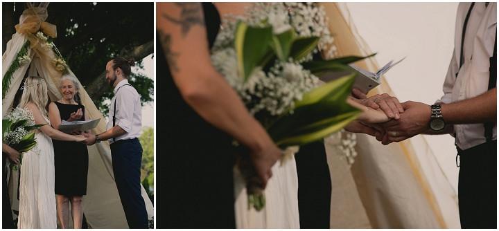 Bohemain Ontario ceremony Wedding By Sophia Lemon Photography