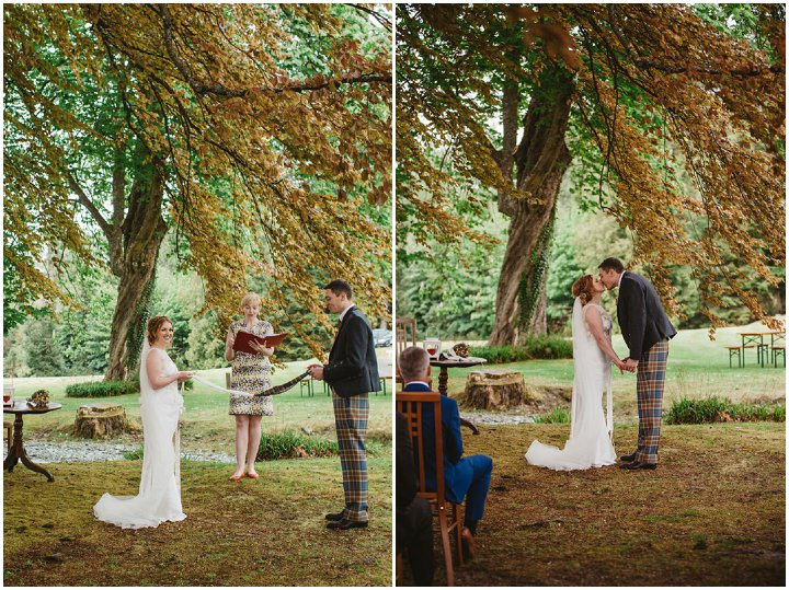 Scottish Wedding with a Claire Pettibone dress By Christopher Currie