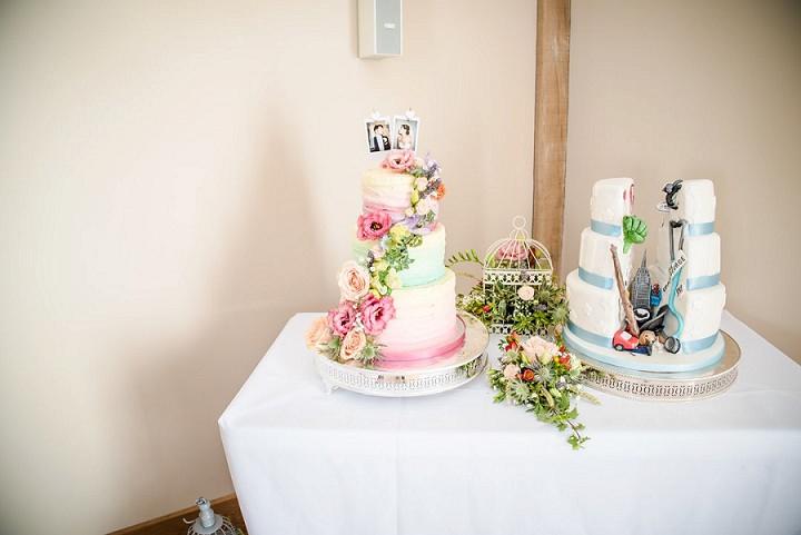 Wedding at Bassmead Manor cake Barn Cambridge By Dewan Demmer Photography