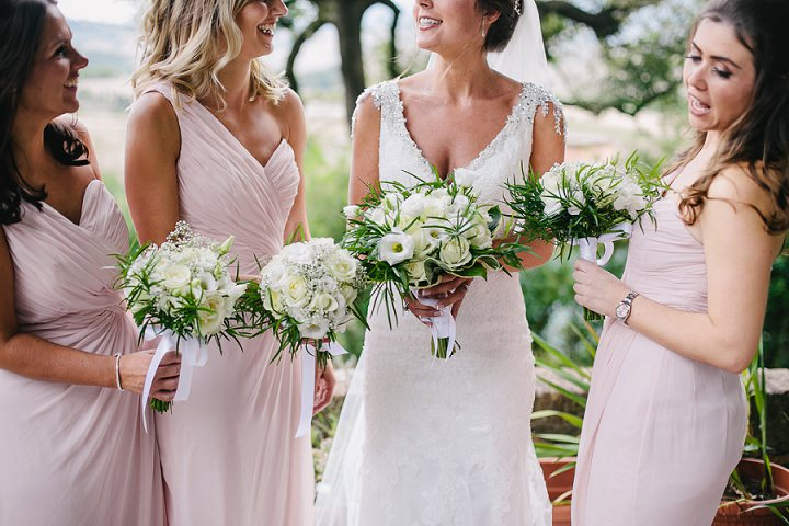 Tuscany bridal party Wedding By Helen Abraham Photography