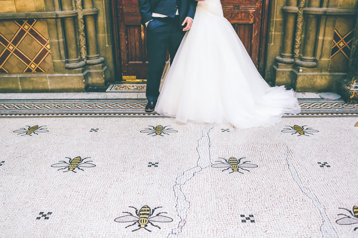 Modern Manchester bees Town Hall Wedding by Emma Boileau