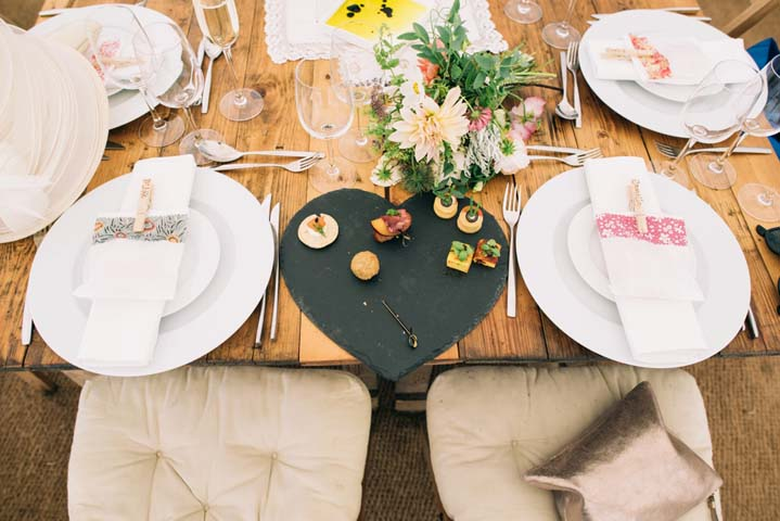 Wedding food at The Haymeadow in Somerset by This and That Photography