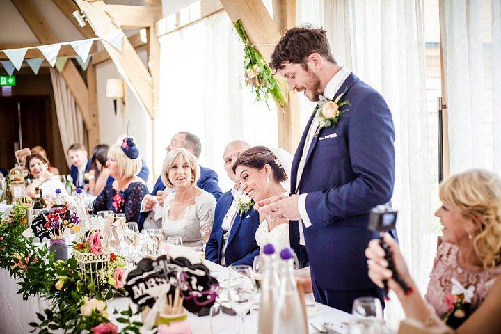 Wedding at Bassmead Manor speeches Barn Cambridge By Dewan Demmer Photography