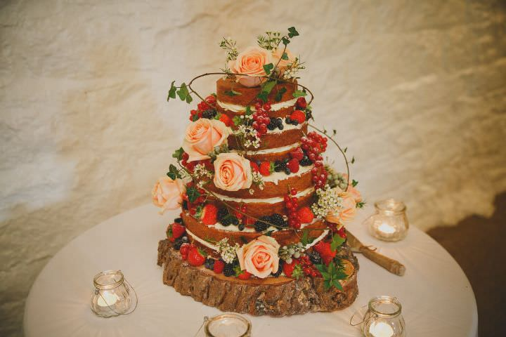 Emily and Jonny's Rustic Peach and Grey Naked Cake Barn Wedding By Soul Images