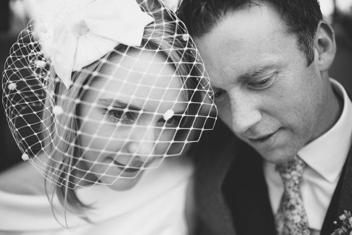 Yorkshire Barmbyfield Barns bride wearing birdcage veil Wedding By Stott and Atkinson