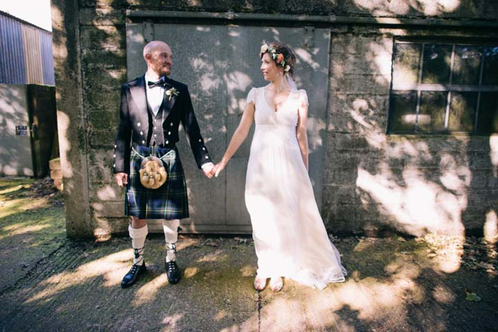 Wedding at The Haymeadow bride and groom in Somerset by This and That Photography