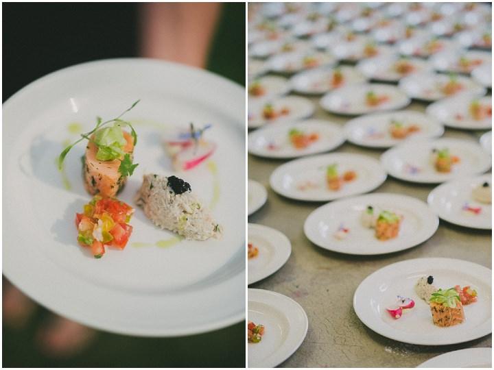 Devon Food at Wedding at Colehayes Park By John Barwood Photography