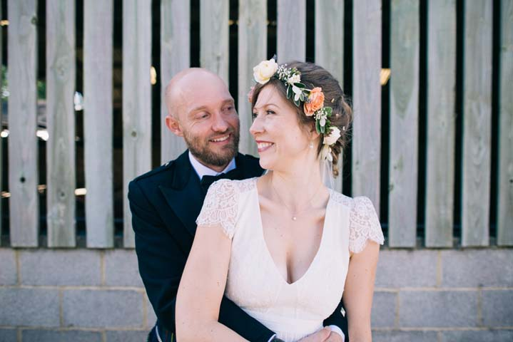 Bride and groom Wedding at The Haymeadow in Somerset by This and That Photography