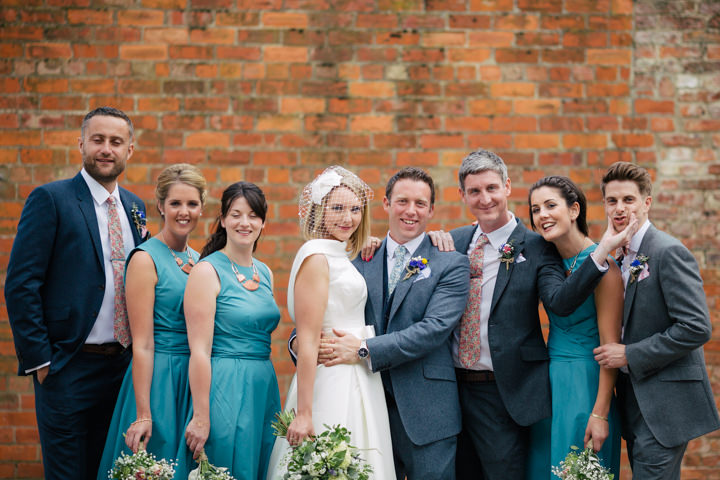 Yorkshire Barmbyfield Barns bridal party Wedding By Stott and Atkinson