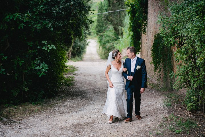 Tuscany bride and groom at Wedding By Helen Abraham Photography