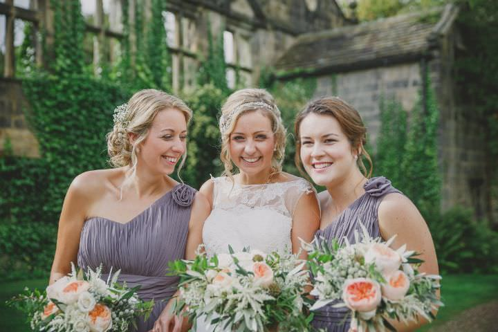 Emily and Jonny's Rustic Peach and Grey Barn Bridal Party Wedding By Soul Images
