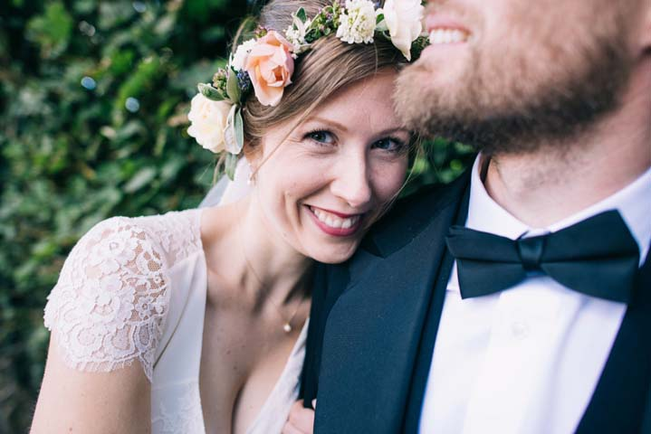 Happy bride Wedding at The Haymeadow in Somerset by This and That Photography