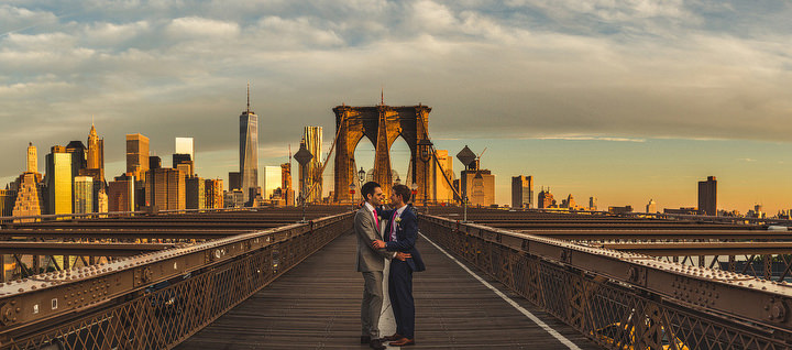 Epic Brooklyn Bridge New York Wedding By S6 Photography