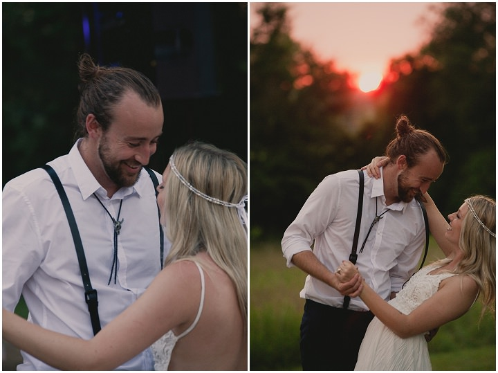 Bohemain Ontario sunset Wedding By Sophia Lemon Photography
