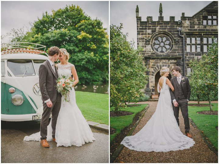 Emily and Jonny's Rustic Peach and Grey Barn Campervan Wedding By Soul Images
