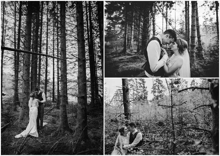 Scottish woods Wedding with a Claire Pettibone dress By Christopher Currie
