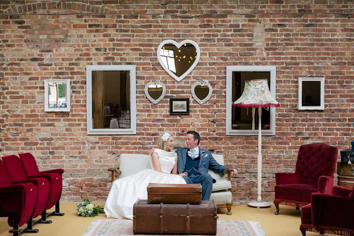 Yorkshire Barmbyfield Barns Wedding couple By Stott and Atkinson