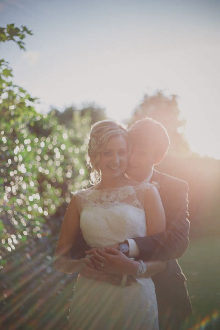 Emily and Jonny's Rustic Peach and Grey Barn Bride and groom Wedding By Soul Images