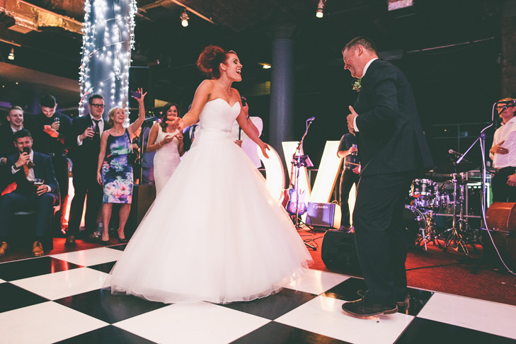Modern Manchester first dance Town Hall Wedding by Emma Boileau