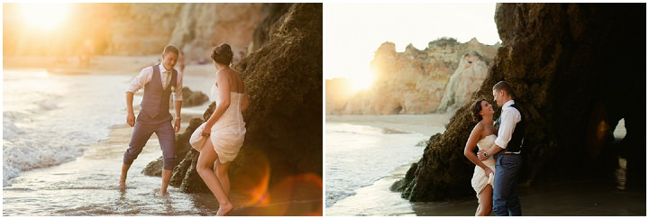 Portugal Wedding on the beach in the Algarve By Matt and Lena Photography
