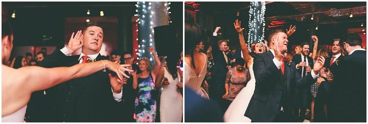 Modern Manchester dancing Town Hall Wedding by Emma Boileau