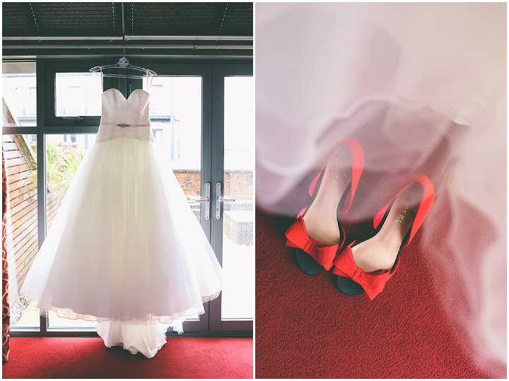 Modern Manchester dress and shoes Town Hall Wedding by Emma Boileau
